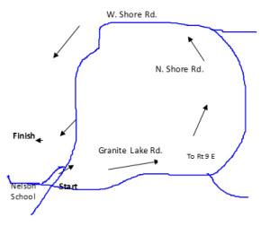 Linda's closet race route
